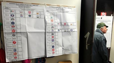 Bureau de vote à Rome, le jour des élections législatives italiennes, le 4 mars 2018.