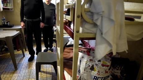 Cellule pour deux détenus à Fresnes, prise en janvier 2018.