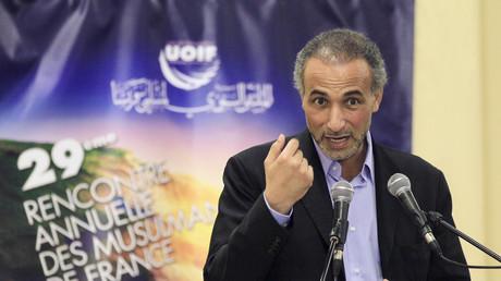 Tariq Ramadan lors d'une conférence au Bourget en avril 2012, illustration