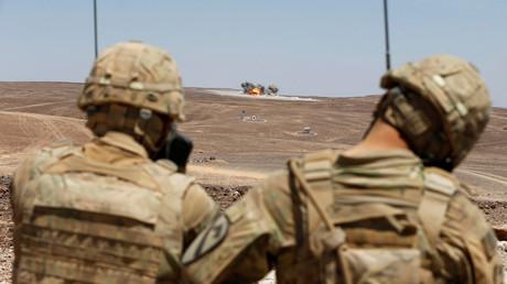 Des soldats américains lors d'un exercice militaire au sud d'Amman en Jordanie, en mai 2017 (image d'illustration)