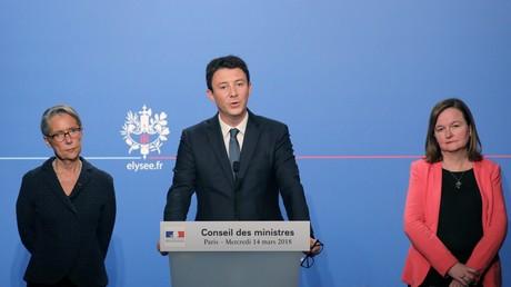 Le porte-parole du gouvernement français Benjamin Griveaux le 14 mars 2018.