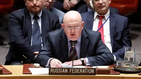 Vassili Nebenzia au Conseil de sécurité de l'ONU