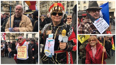 Des manifestants le 15 mars 2018 à Paris
