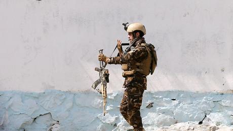 Illustration : un soldat afghan à Kaboul, le 17 mars 2018