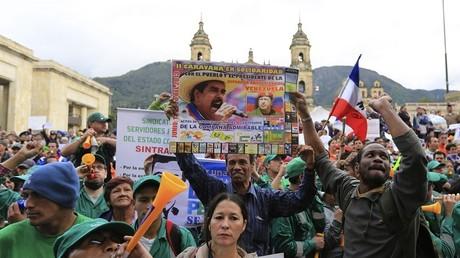 Manifestation à Caracas (Venezuela) en soutien au président Nicolas Maduro (illustration).