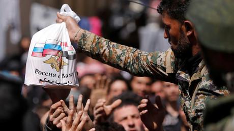 Ghouta : un effort humanitaire «sans précédent» selon Moscou, 80 000 civils ont pu fuir les rebelles