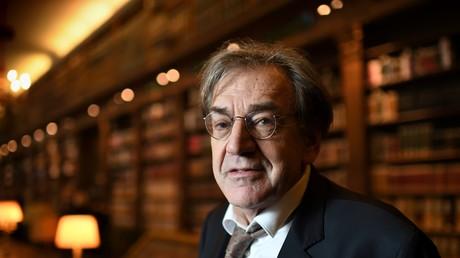 Alain Finkielkraut à l'Académie française en décembre 2016.