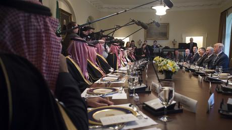 Réunion déjeuner entre Donald Trump et Mohammed ben Salmane à Washington, mardi 20 mars.