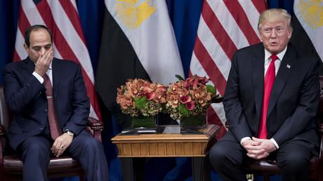 Abdel Fattah al-Sissi et Donald Trump en septembre 2017, photo ©Brendan Smialowski / AFP