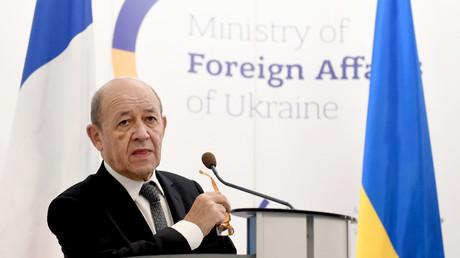 Jean-Yves Le Drian à Kiev