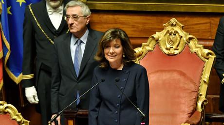 La sénatrice Elisabetta Alberti Casellati de Forza Italia a été élue présidente du Sénat