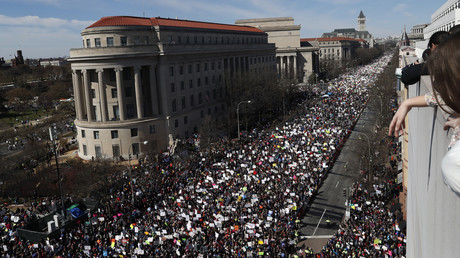 Manifestants contre les armes aux Etats-Unis les 24 mars