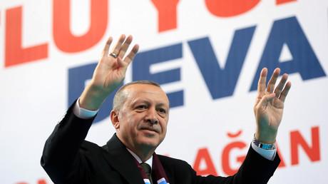 Le président turc Recep Tayyip Erdogan à Trabzon, le 25 mars 2018