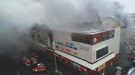Russie : au moins 64 morts dans l'incendie d'un centre commercial (VIDEOS)