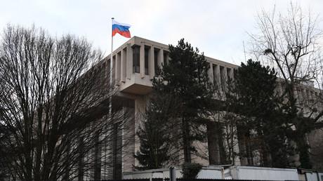L'ambassade de Russie à Paris, en février 2017