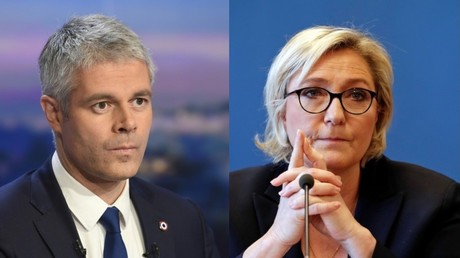 Photomontage, Laurent Wauquiez et Marine Le Pen, illustration