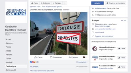 Génération identitaire déploie des panneaux de signalisation anti-«djihadistes» autour de Toulouse