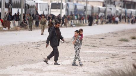 Ghouta : Jaïch al-Islam retranché dans le nord de l'enclave, plus de 128 000 réfugiés hors de danger