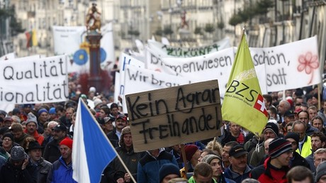 Manifestations d'agriculteurs à Bern (Suisse) en novembre 2015 (illustration).