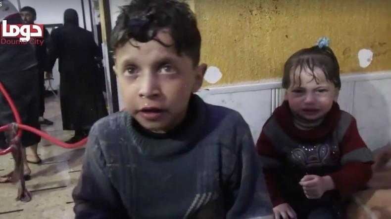 «Attaque chimique» à Douma : un père et son enfant battent en brèche la version occidentale (VIDEOS)
