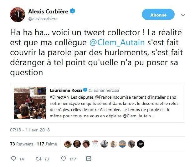 Agitation à l'Assemblée: différence de traitement entre une députée LFI et Gérard Collomb