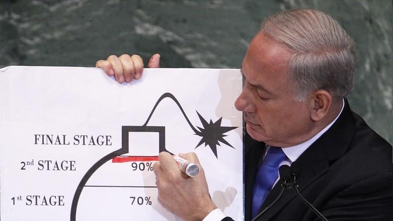 A grand renfort de schémas, Netanyahou accuse à la TV l'Iran d'avoir un programme nucléaire secret