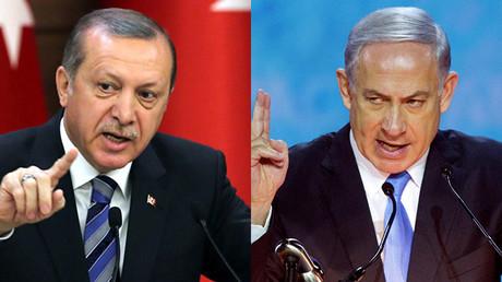 Le président turc Recep Erdogan et le Premier ministre israélien Benjamin Netanyahou (illustration)