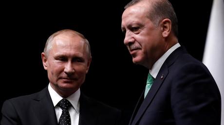 Vladimir Poutine et Recep Tayyip Erdogan en décembre 2017, photo ©Umit Bektas/Reuters