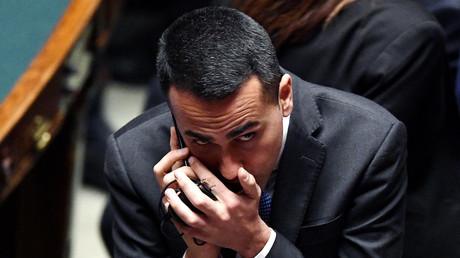 Luigi Di Maio, candidat du M5S à la présidence du gouvernement le 23 mars 2018, photo ©Filippo MONTEFORTE / AFP