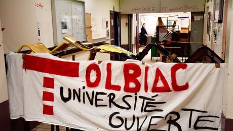 Dans les locaux du campus de Tolbiac de l'Université Paris I Panthéon-Sorbonne à Paris le 4 avril 2018.