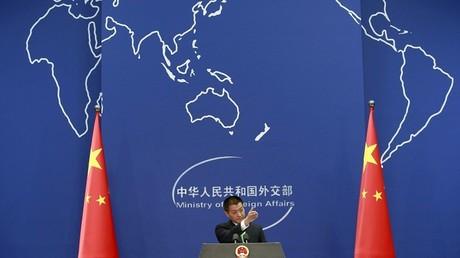 Lu Kang, porte-parole du ministère des Affaires étrangères de la République populaire de Chine intervient dans la brouille commerciale avec les Etats-Unis (illustration).