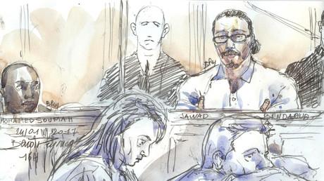 Jawad Bendaoud lors de son procès, le 24 janvier 2018