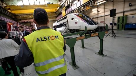 Un employé d'Alstom le 26 octobre 2017 à Belfort. (image d'illustration)