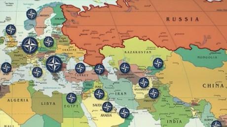 Carte situant des bases de l'OTAN, capture d'écran RT