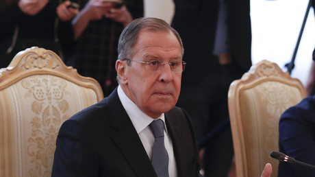 Sergueï Lavrov à Moscou, le 13 avril, illustration