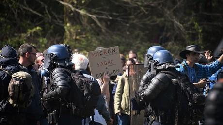 Illustration : évacuation de la ZAD à Notre-Dame-des-Landes le 15 avril