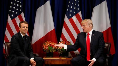 Emmanuel Macron et Donald Trump à New York le 18 septembre 2017