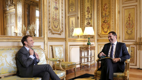 Emmanuel Macron et Christophe Castaner le 20 novembre 2017 à l'Elysée. (image d'illustration)