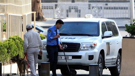 Illustration : les enquêteurs de l'OIAC arrivent à Damas le 14 avril