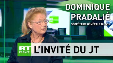 Dominique Pradalié est secrétaire générale pour le Syndicat national des journalistes (SNJ)