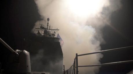 Illustration : un Tomahawk décolle d'un navire américain