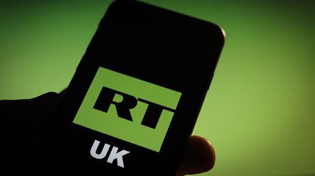 Illustration : le logo de la branche britannique de la chaîne : RT UK