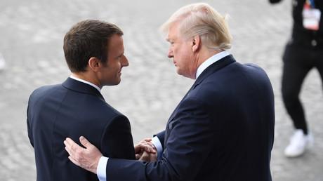 Le président français Emmanuel Macron et son homologue américain Donald Trump le 14 juillet 2017 à paris. (image d'illustration)