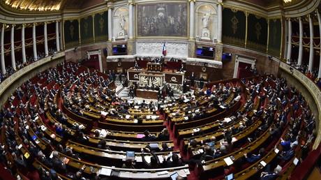 L'Assemblée nationale française, lors d'une cession de questions au gouvernement le 14 mars 2018