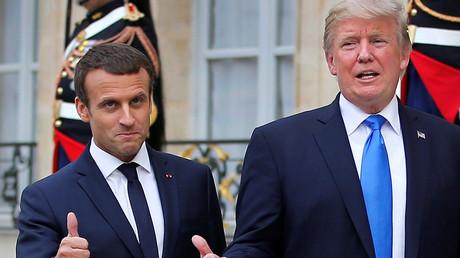 Emmanuel Macron et Donald Trump à l'Elysée pour une conférence de presse, 13 juillet 2017, illustration