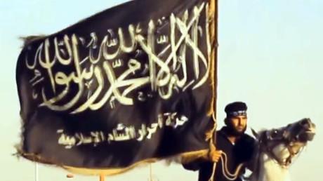 Capture d'image d'une vidéo de propagande de l'Etat islamique, téléchargée en septembre 2013.