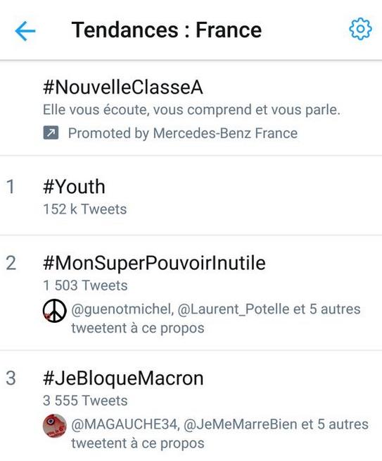 #JeBloqueMacron : l'insoumission a trouvé un nouveau hashtag... et c'est un succès