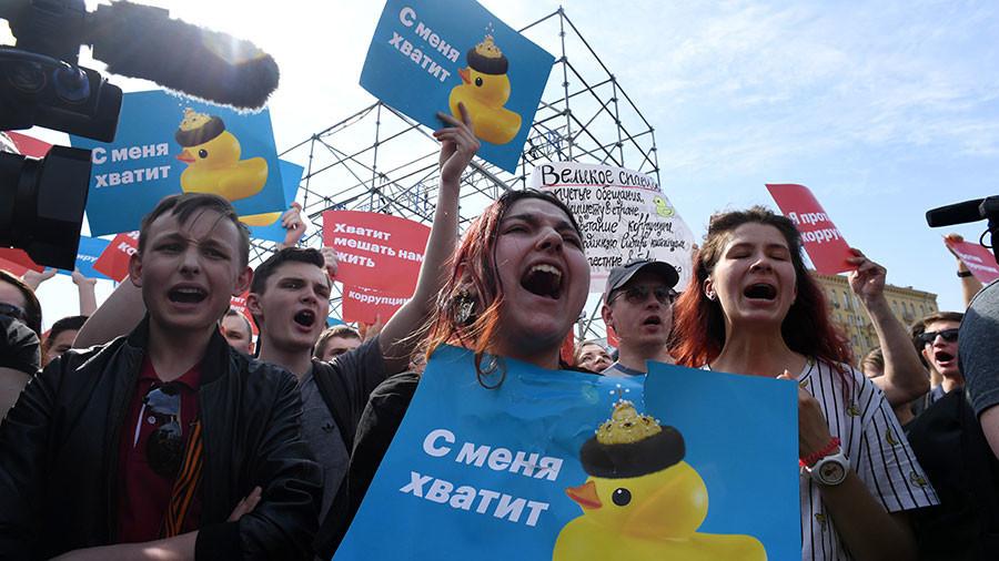 Manifestations de l'opposition en Russie, Navalny arrêté à un rassemblement non-autorisé à Moscou