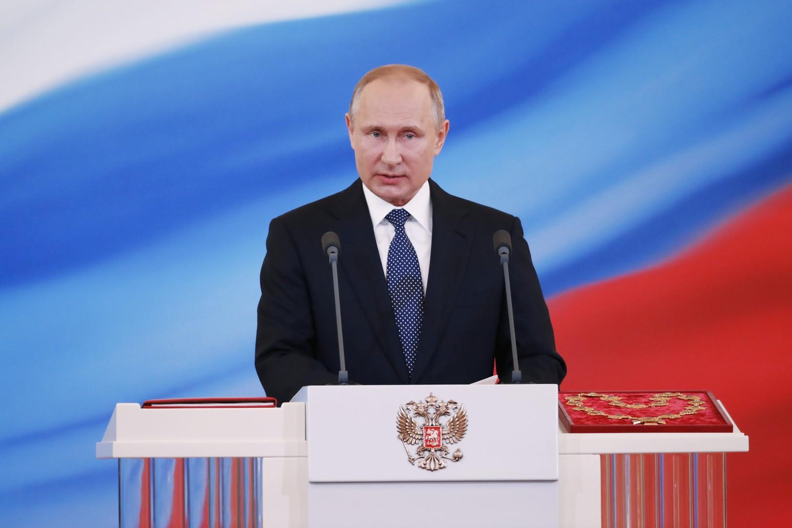 Vladimir Poutine officiellement investi pour son quatrième mandat présidentiel