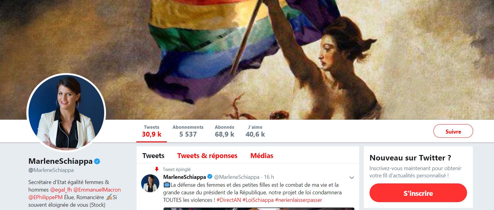 «Ringard» le bleu, blanc, rouge ? Schiappa troque le drapeau français pour l'arc-en-ciel sur Twitter
